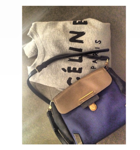 Tricolored cross bag