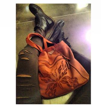 Brick orange shoulder bag